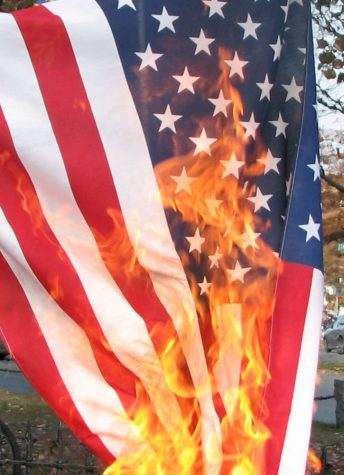 Flag burning has become more controversial over the years.