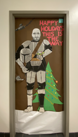 LMP Students decorate classrooms doors for Christmas.