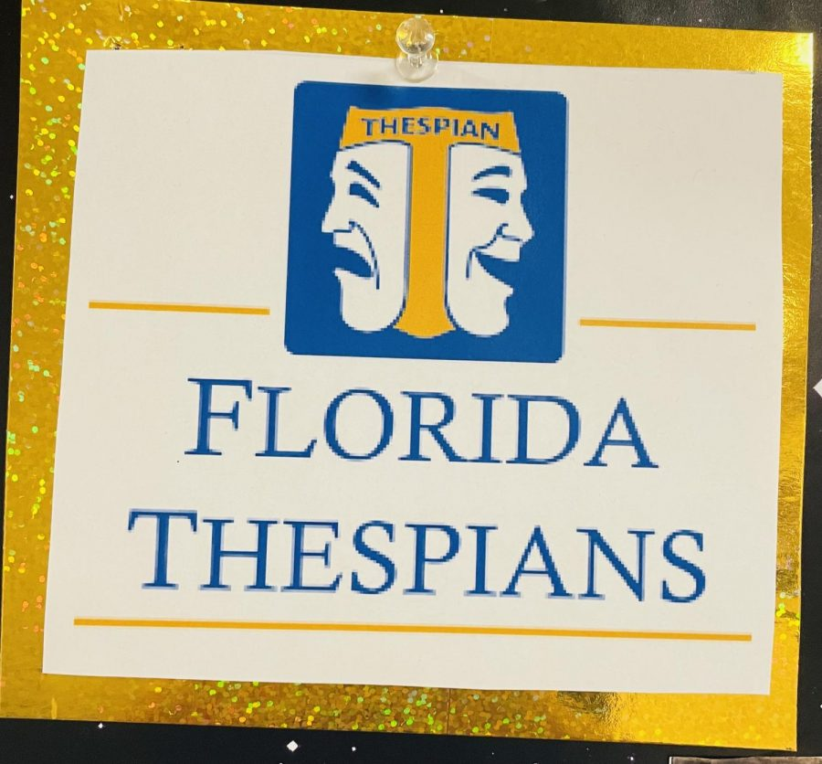 The Florida Thespians logo is recognized by theatre students.