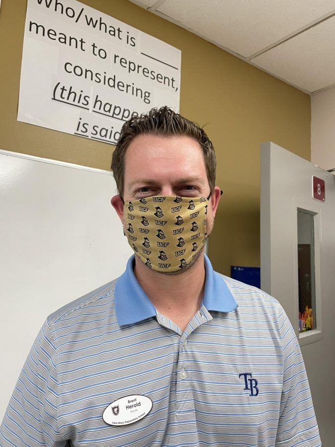 Mr. Herold wears a mask as part of LMPs mandatory policy.